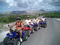 Quad in Kroatien