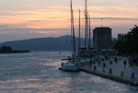 Die  Riva in Trogir